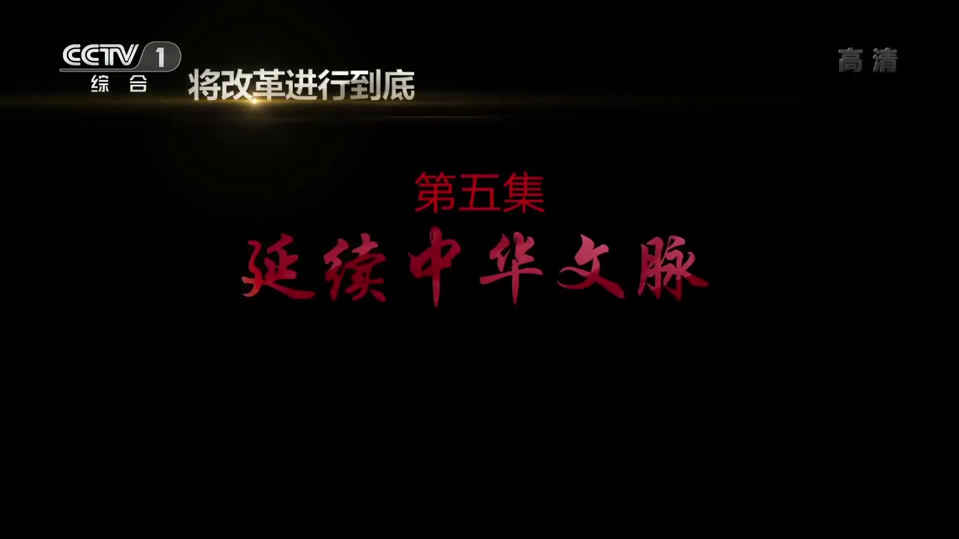 《将改革进行到底》 第五集  延续中华文脉